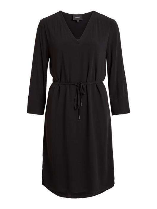889f540b001789 OBJECT Zwart v-hals kleedje