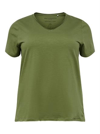 ONLY CARMA Khaki organic cotton tee