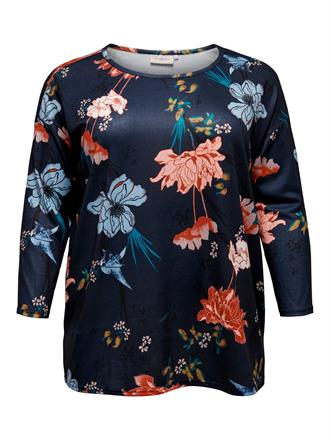 ONLY CARMA Navy floral shirt