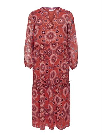 ONLY CARMA Rust pattern dress