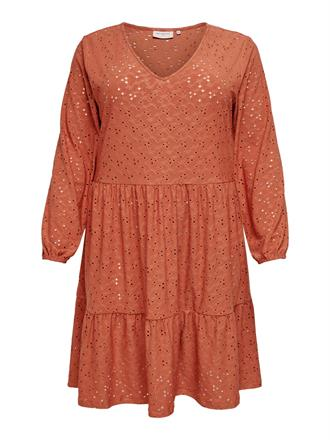 ONLY CARMA Terra cotta lace dress