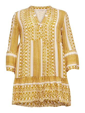 ONLY CARMA Yellow aztec dress