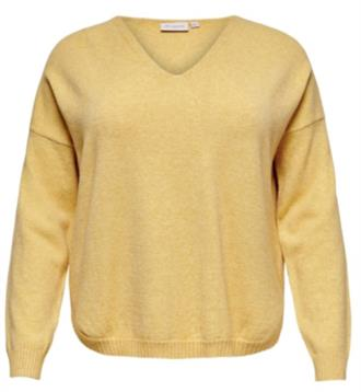 ONLY CARMA Yellow pullover