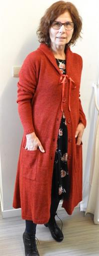 RIMINI Red cardigan knit
