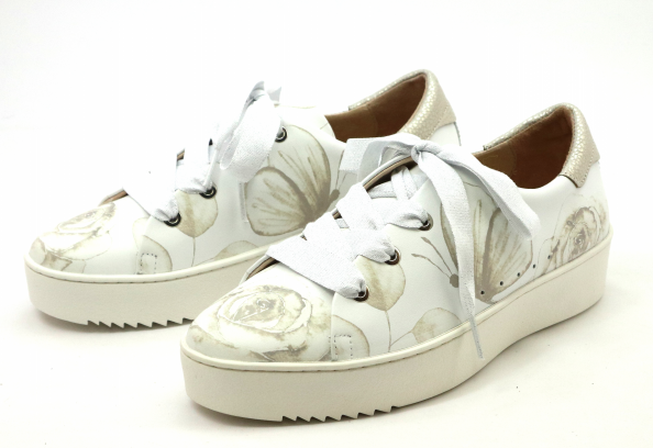 SOFTWAVES Wit+ beige rozen sneaker