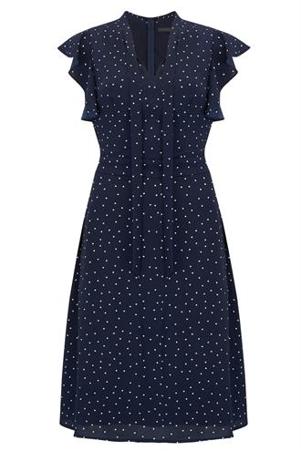 SUGARHILL Blue polka dot dress
