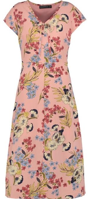 SUGARHILL Old rose floral dress