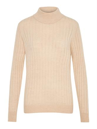 YAS Beige turtle neck knit
