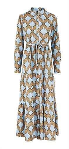 YAS Blue pattern maxi dress