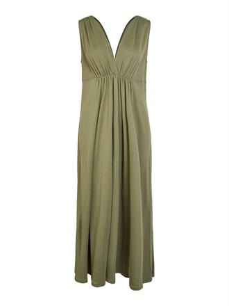 YAS Khaki double v dress