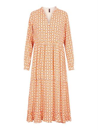 YAS Orange retro maxi dress