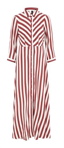 YAS Red|&white stripes dress