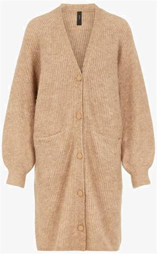 YAS Sand long cardigan
