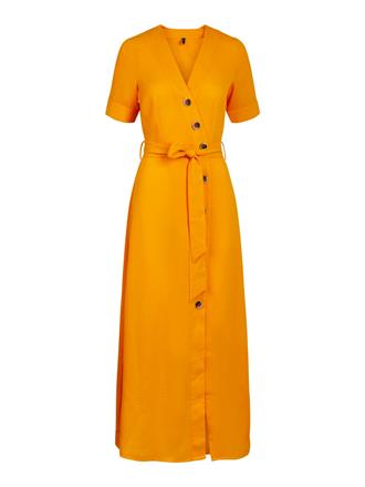 YAS Yellow long button dress